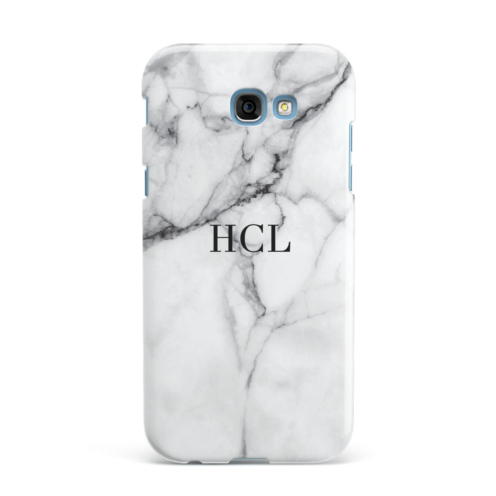 Personalised Small Marble Initials Custom Samsung Galaxy A7 2017 Case