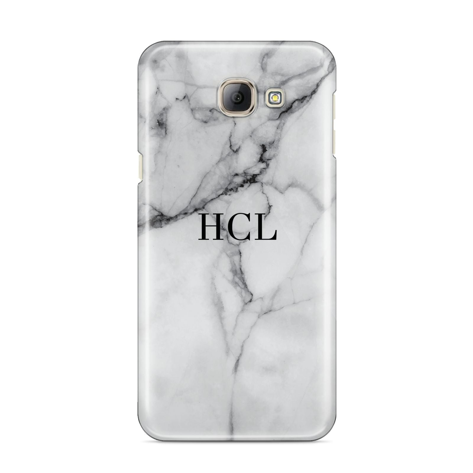 Personalised Small Marble Initials Custom Samsung Galaxy A8 2016 Case