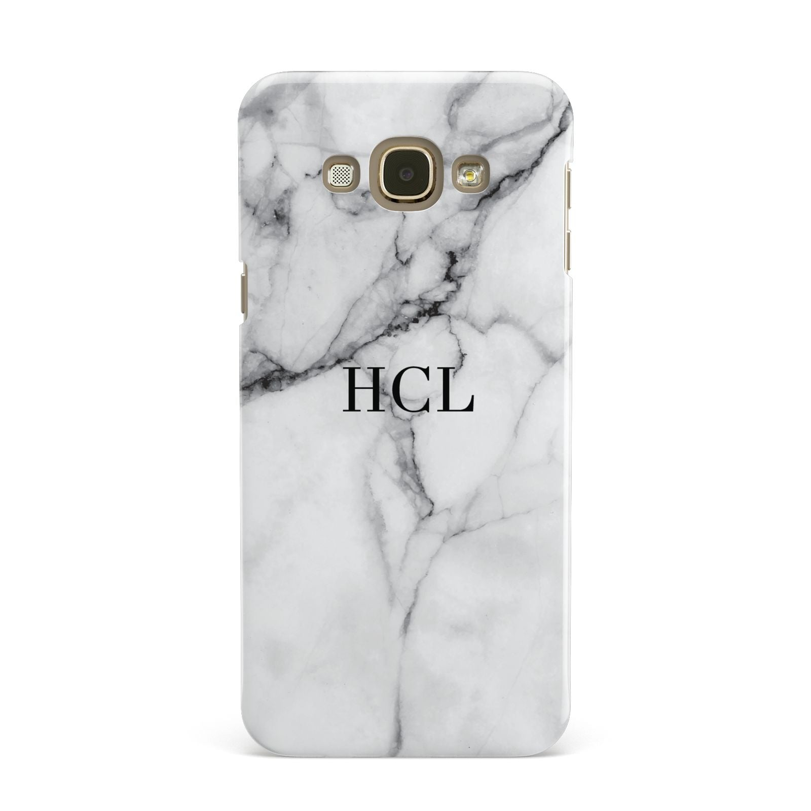 Personalised Small Marble Initials Custom Samsung Galaxy A8 Case
