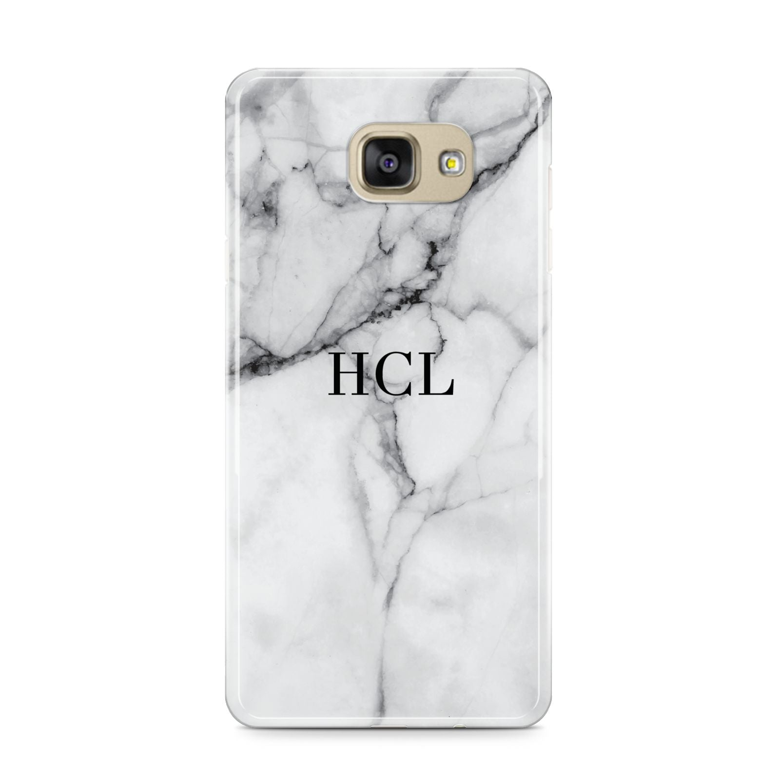 Personalised Small Marble Initials Custom Samsung Galaxy A9 2016 Case on gold phone