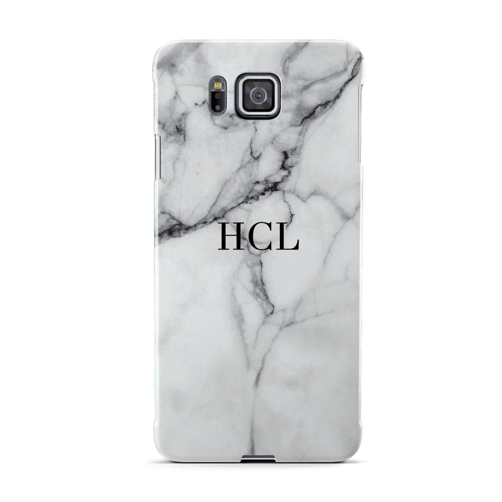 Personalised Small Marble Initials Custom Samsung Galaxy Alpha Case