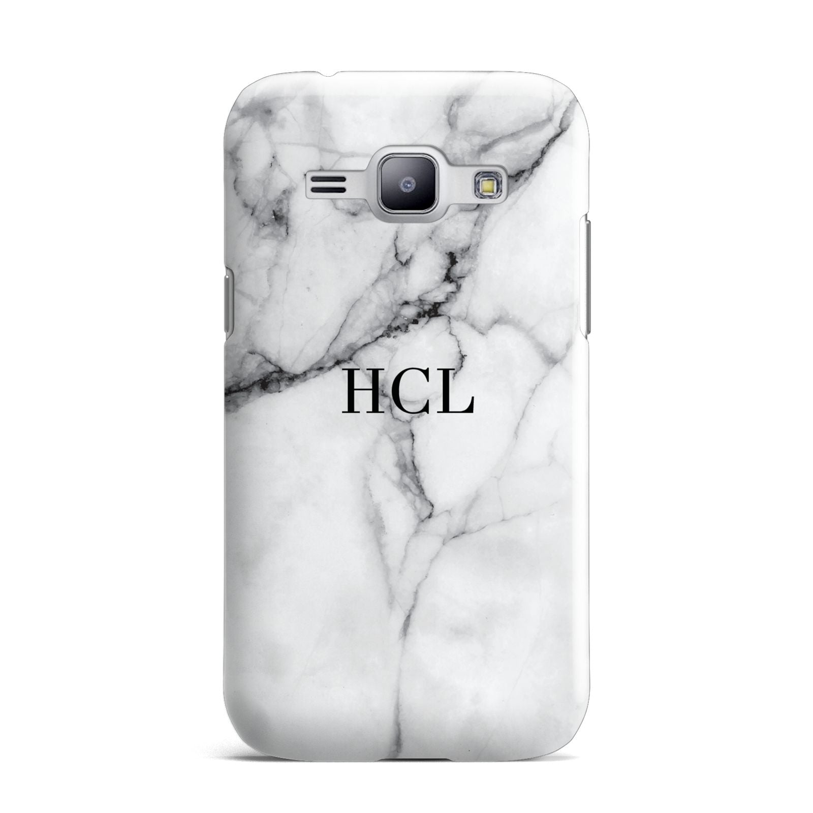 Personalised Small Marble Initials Custom Samsung Galaxy J1 2015 Case