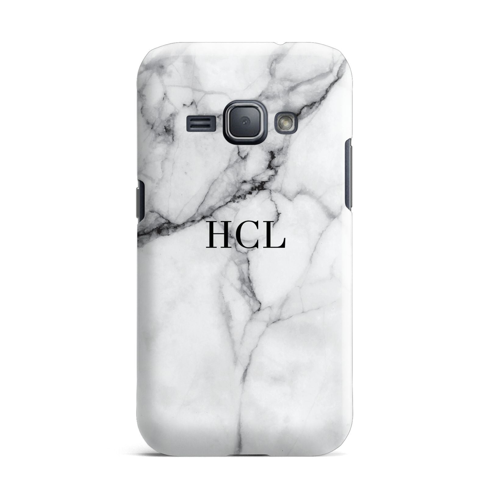Personalised Small Marble Initials Custom Samsung Galaxy J1 2016 Case