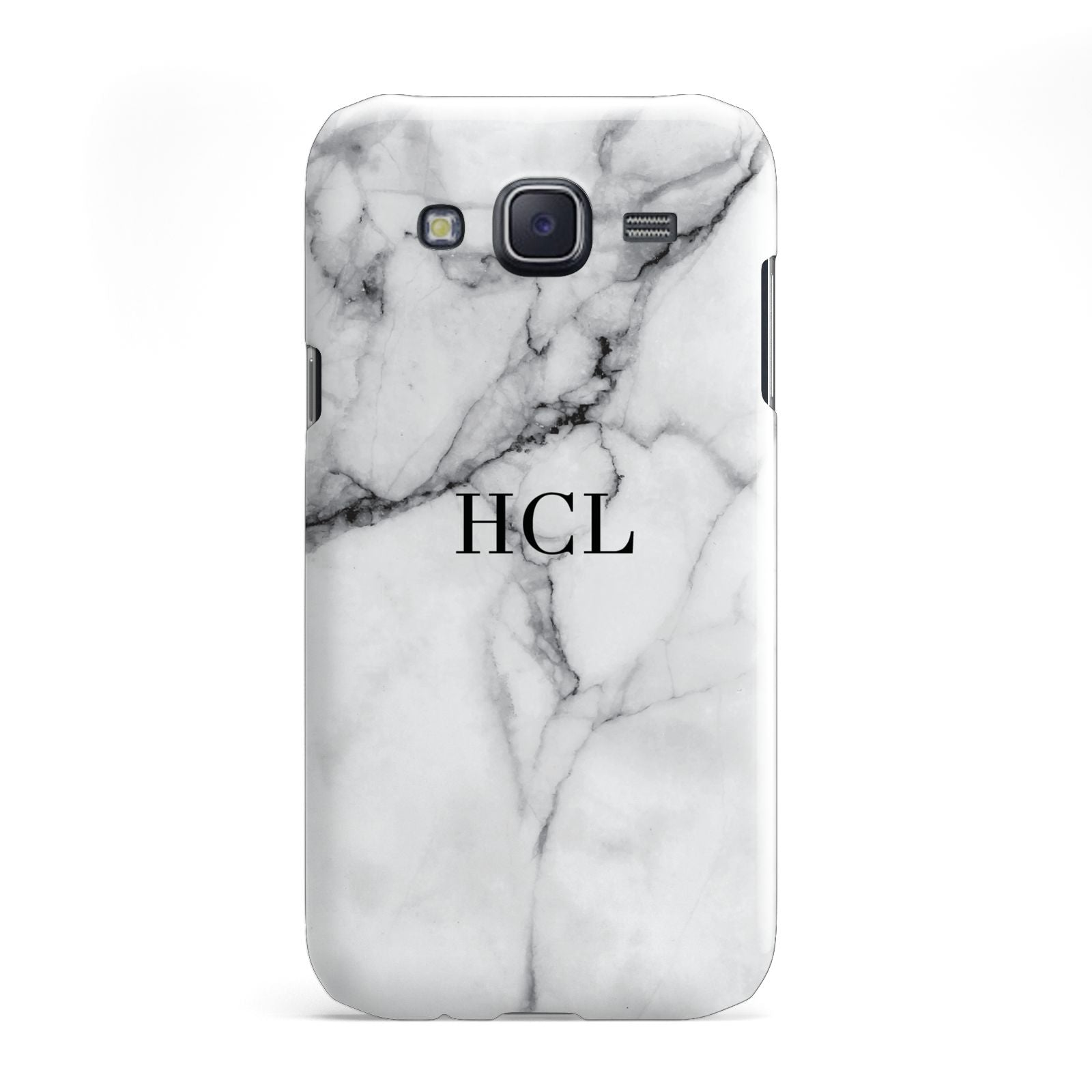 Personalised Small Marble Initials Custom Samsung Galaxy J5 Case