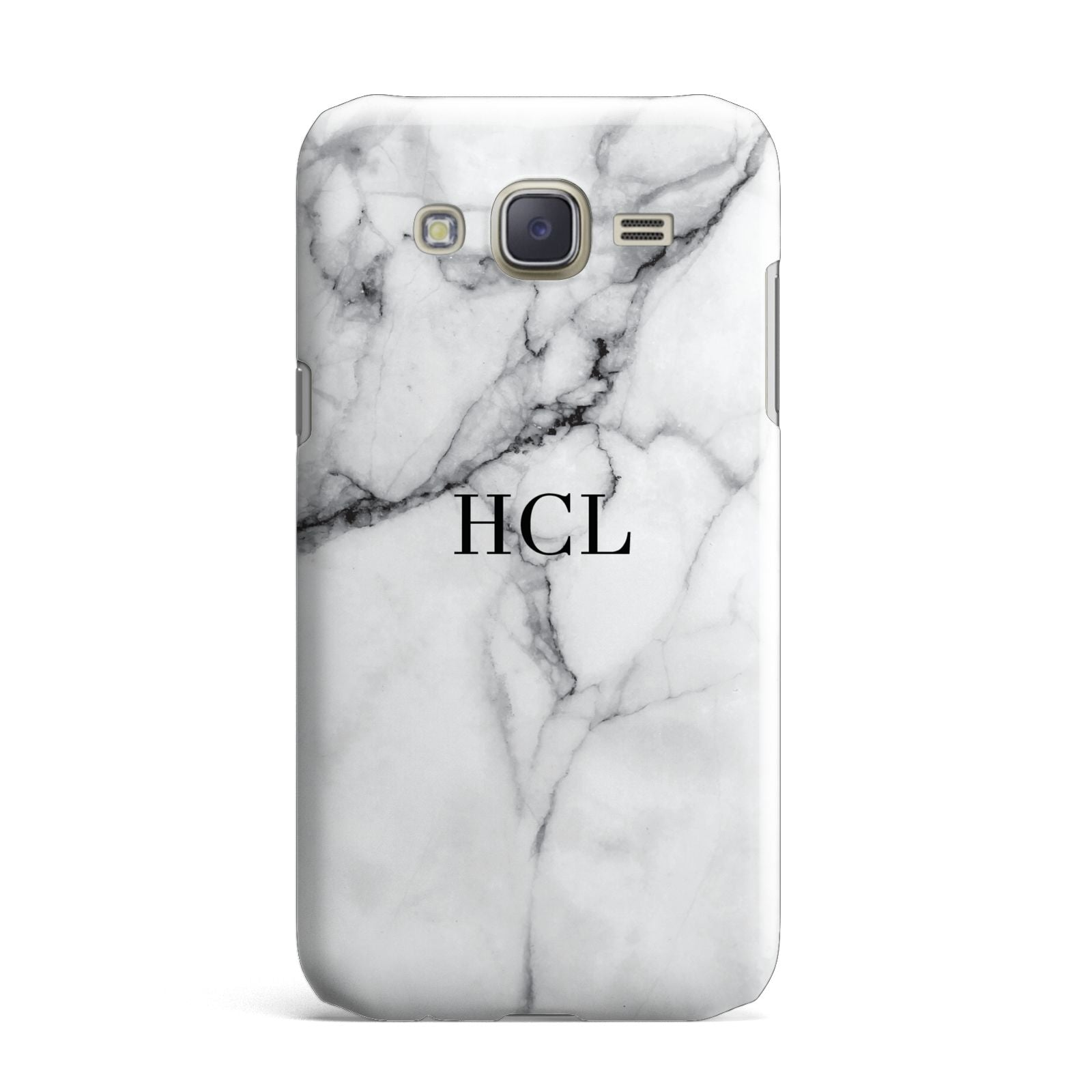 Personalised Small Marble Initials Custom Samsung Galaxy J7 Case