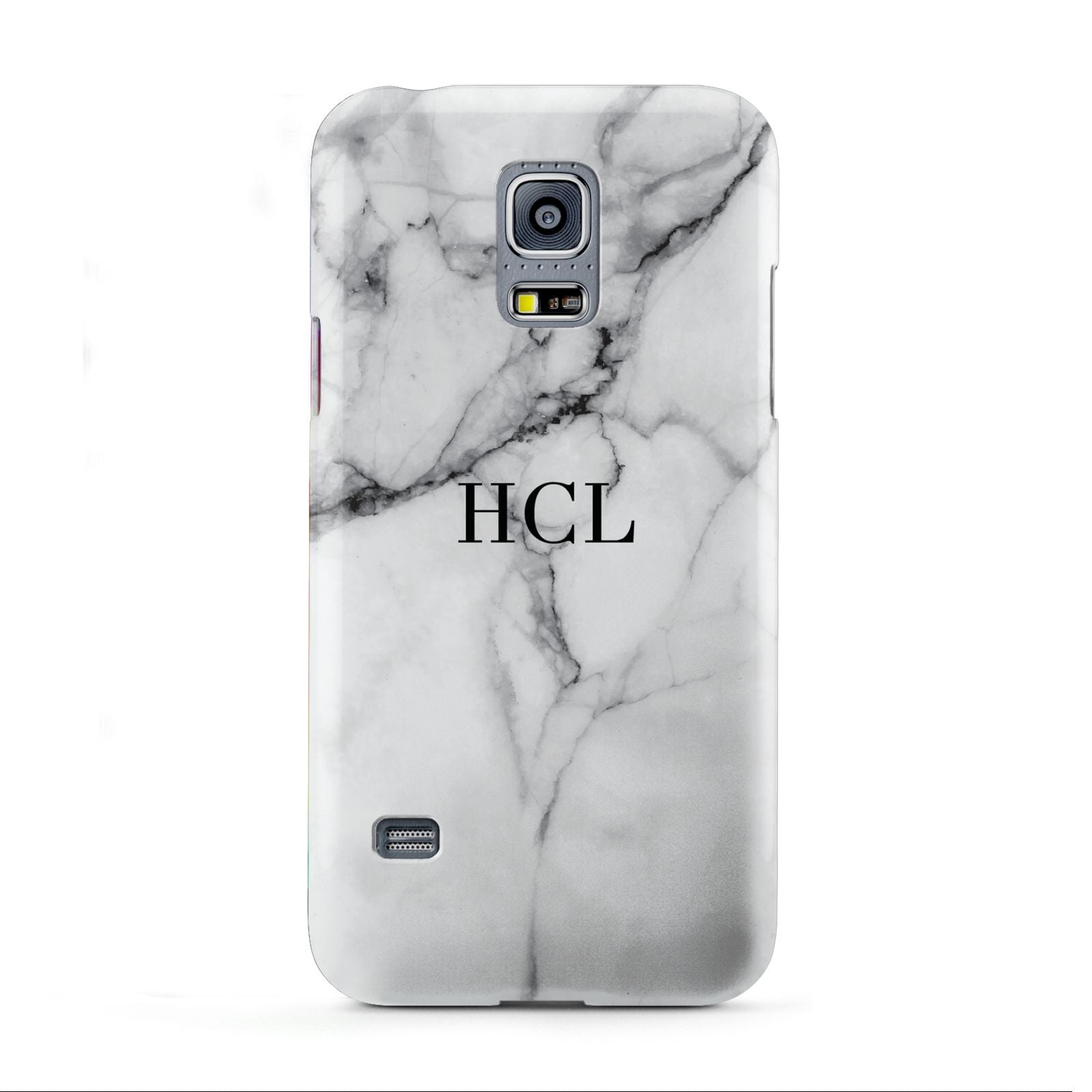 Personalised Small Marble Initials Custom Samsung Galaxy S5 Mini Case