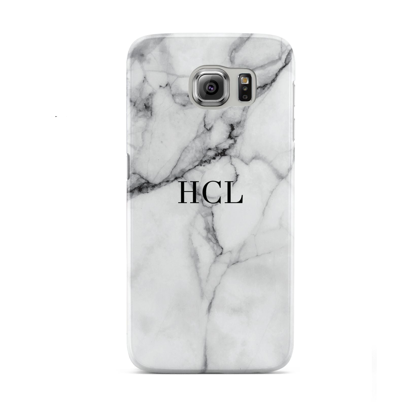 Personalised Small Marble Initials Custom Samsung Galaxy S6 Case