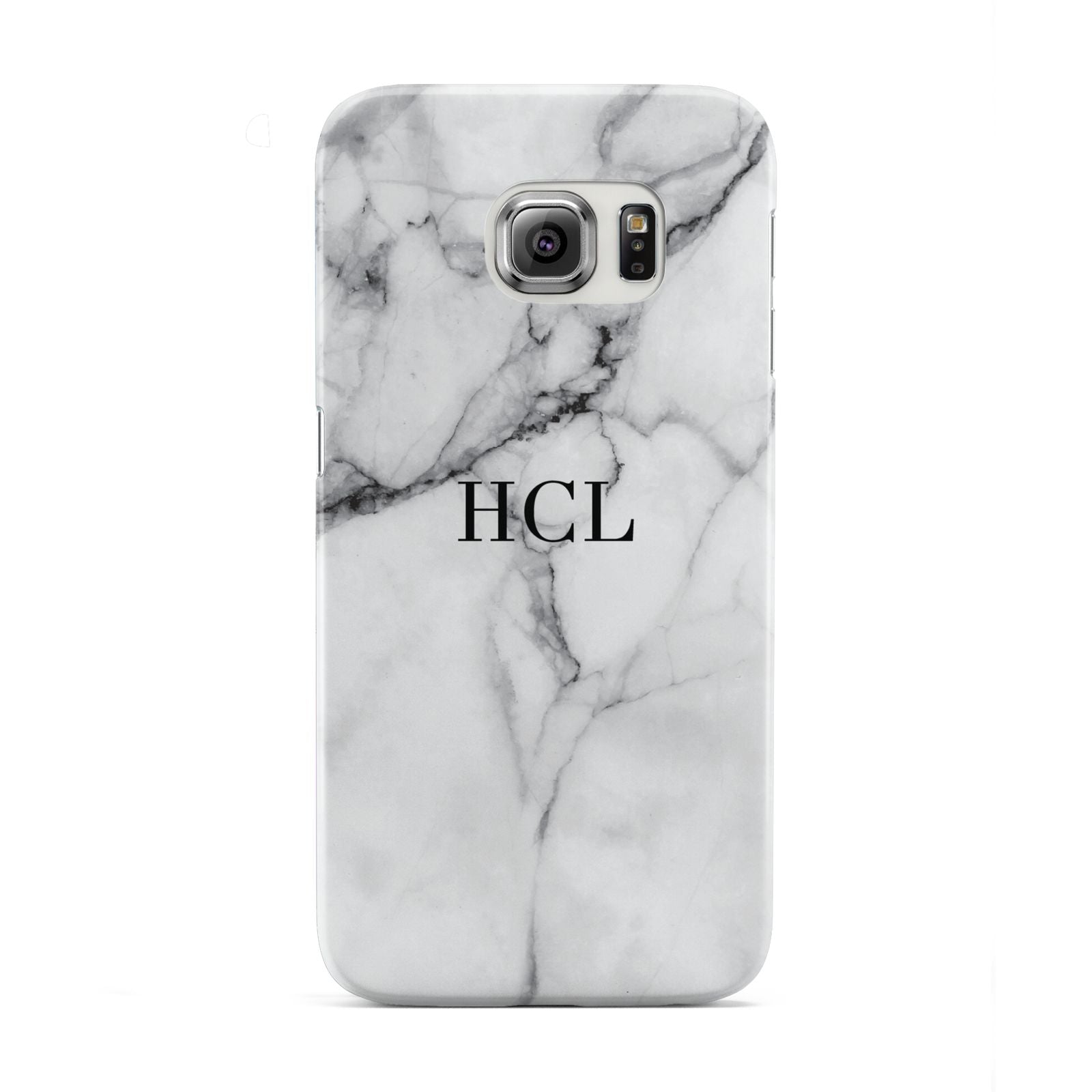 Personalised Small Marble Initials Custom Samsung Galaxy S6 Edge Case