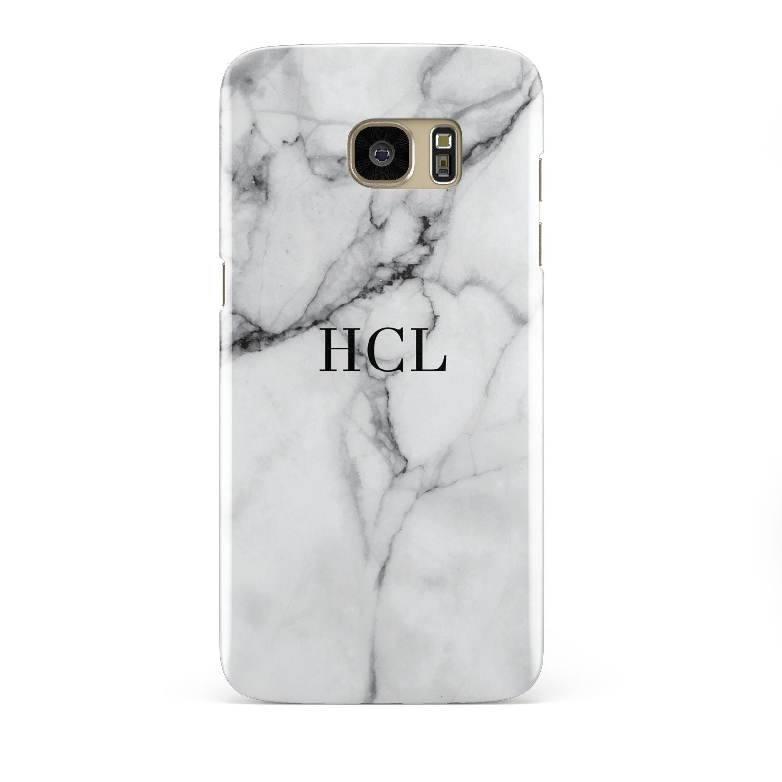 Personalised Small Marble Initials Custom Samsung Galaxy S7 Edge Case