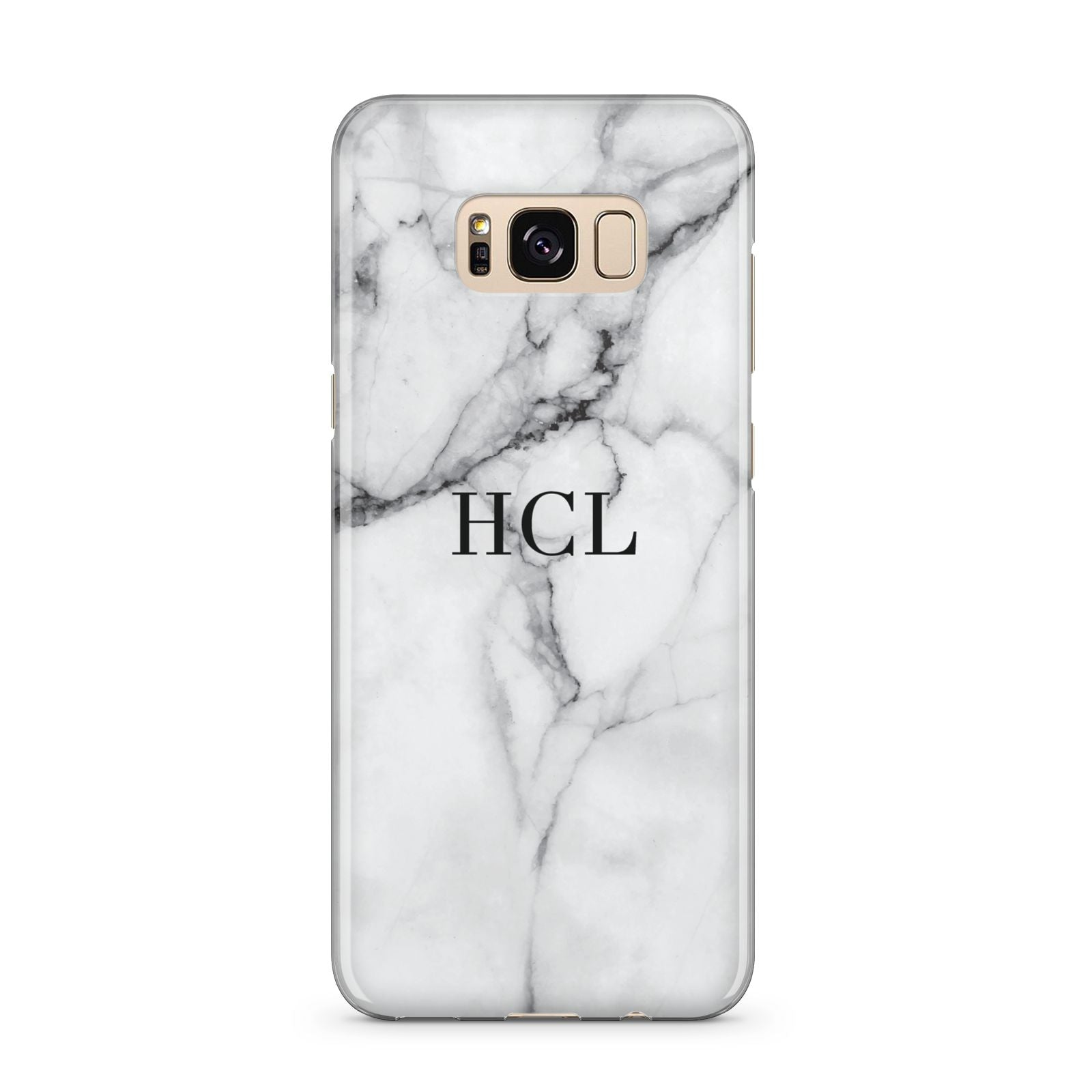 Personalised Small Marble Initials Custom Samsung Galaxy S8 Plus Case