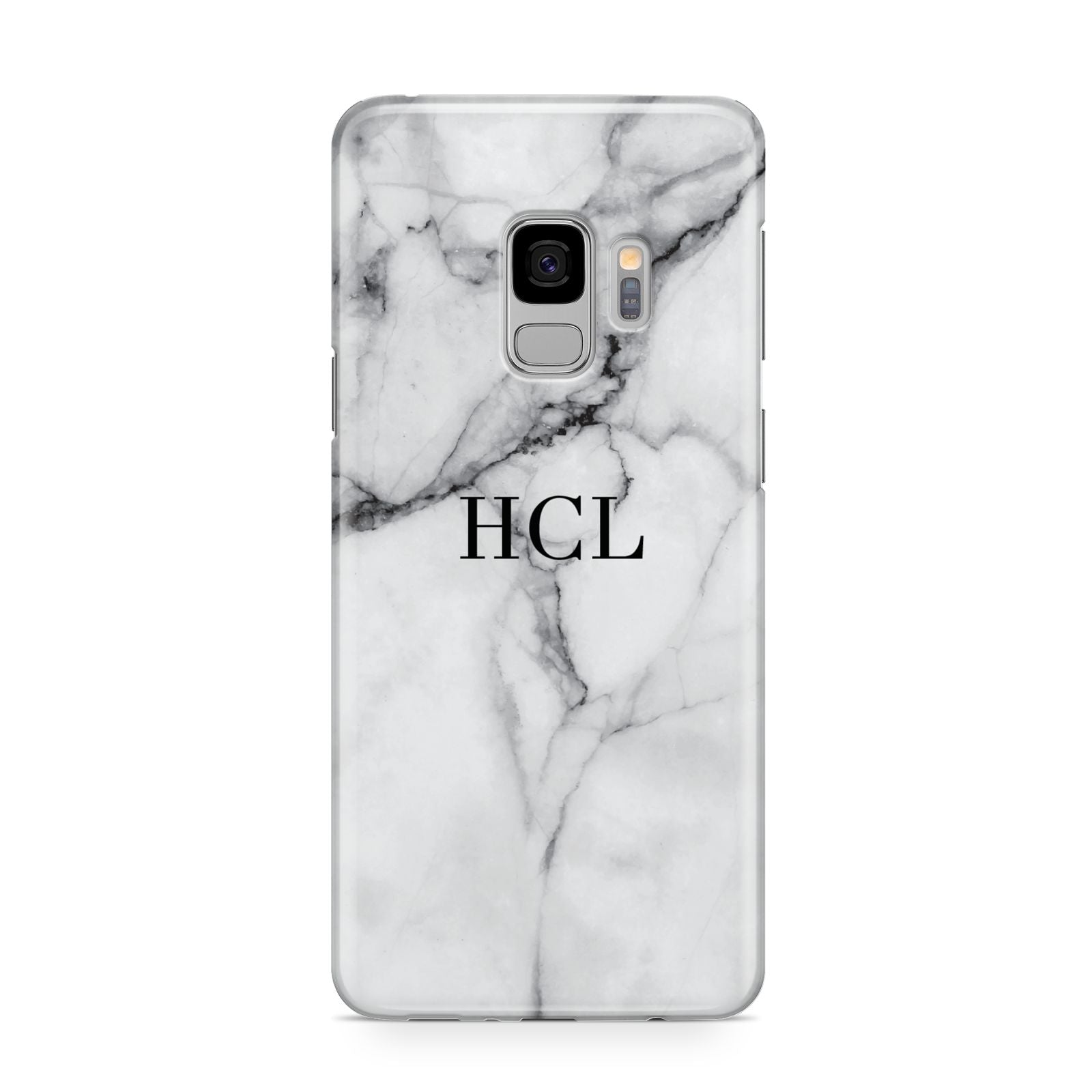 Personalised Small Marble Initials Custom Samsung Galaxy S9 Case
