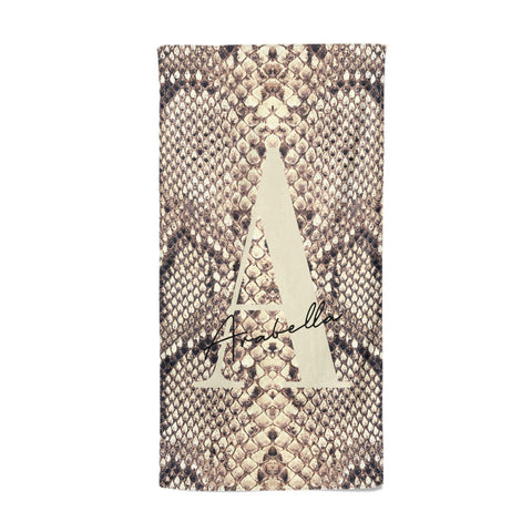 Personalised Snake Skin Effect Beach Towel