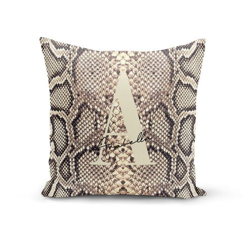 Personalised Snake Skin Effect Cushion