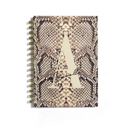 Personalised Snake Skin Effect Notebook