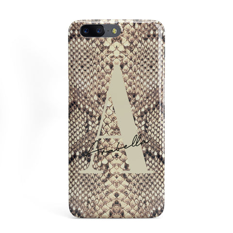 Personalised Snake Skin Effect OnePlus Case