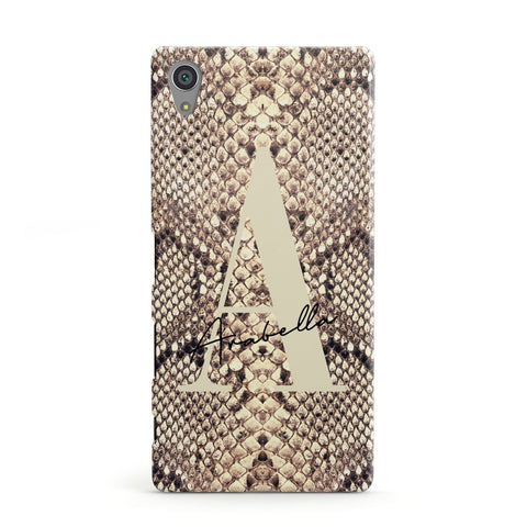 Personalised Snake Skin Effect Sony Case