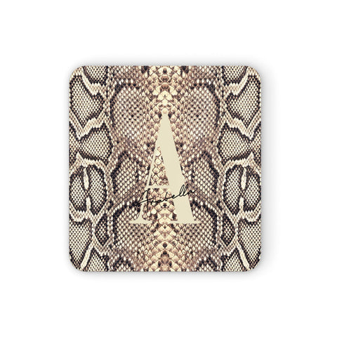 Personalised Snake Skin Effect Coasters set of 4
