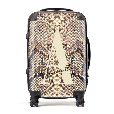 Personalised Snake Skin Effect Suitcase