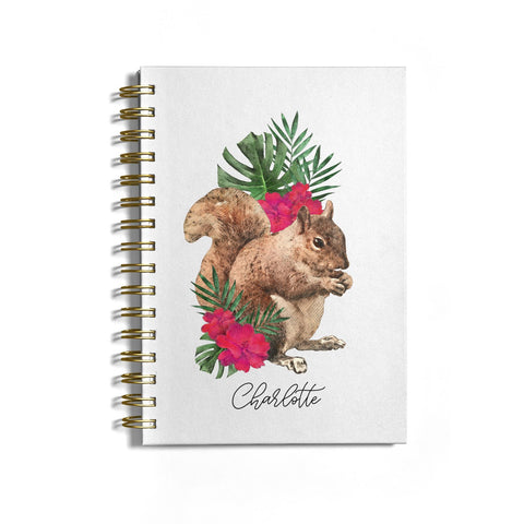 Personalised Squirrel Notebook