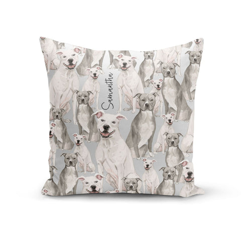 Personalised Staffordshire Dog Cushion