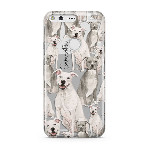 Personalised Staffordshire Dog Google Case