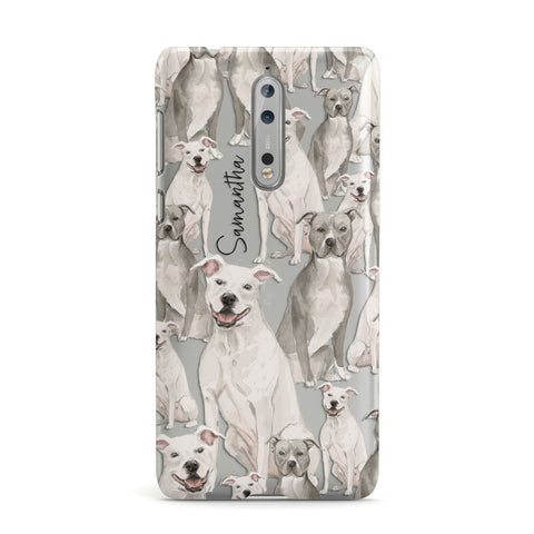 Personalised Staffordshire Dog Nokia Case