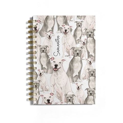 Personalised Staffordshire Dog Notebook