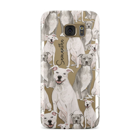 Personalised Staffordshire Dog Samsung Galaxy Case