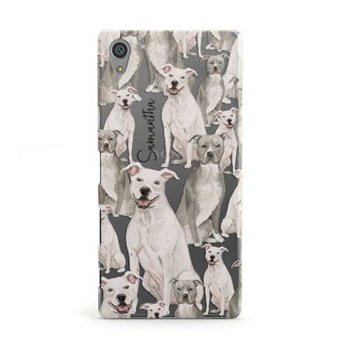 Personalised Staffordshire Dog Sony Case