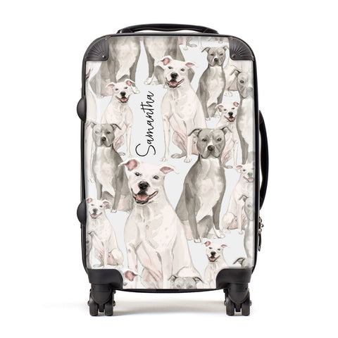 Personalised Staffordshire Dog Suitcase