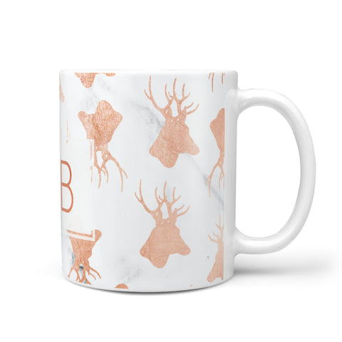 Personalised Stag Marble Initials Mug