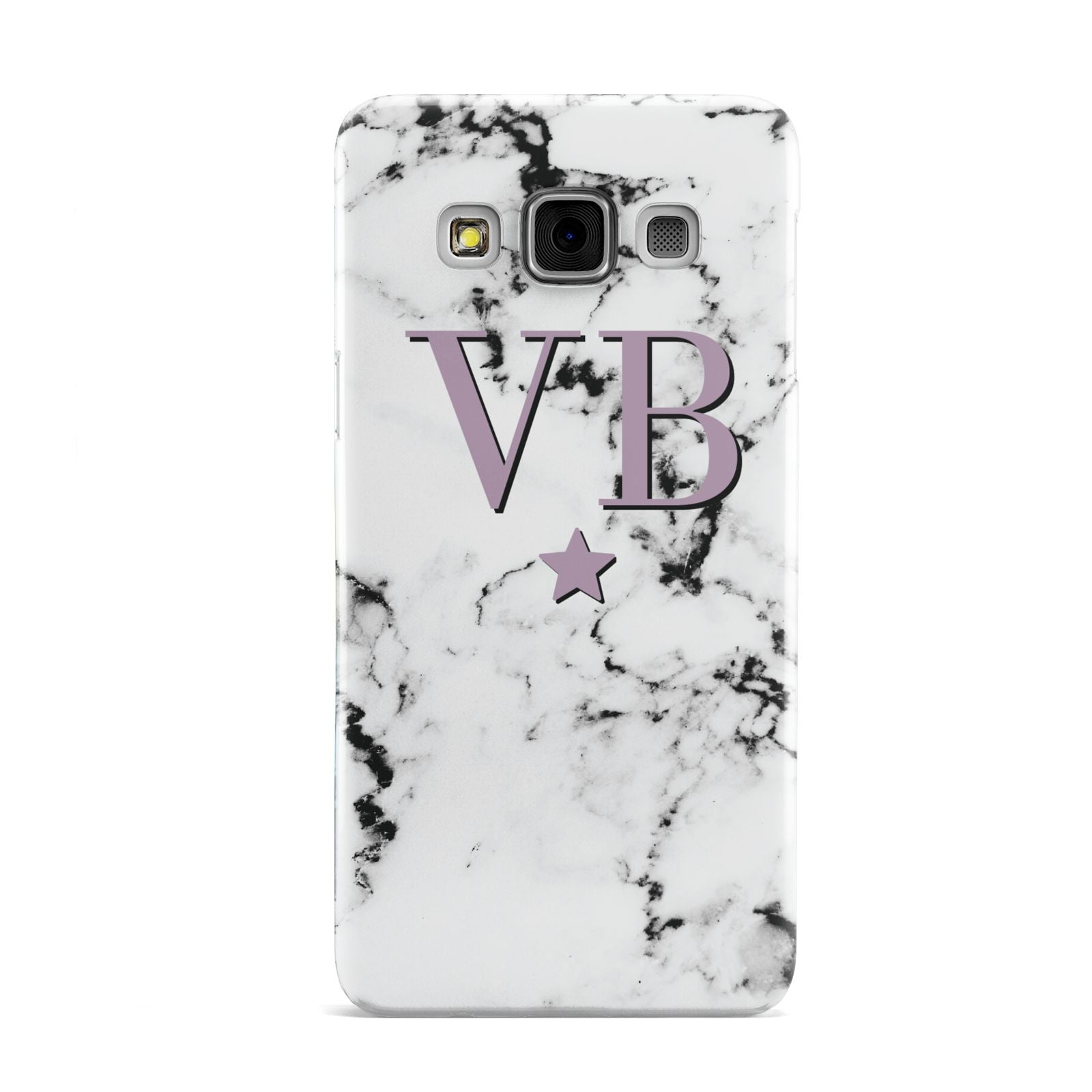Personalised Star With Monogram Marble Samsung Galaxy A3 Case