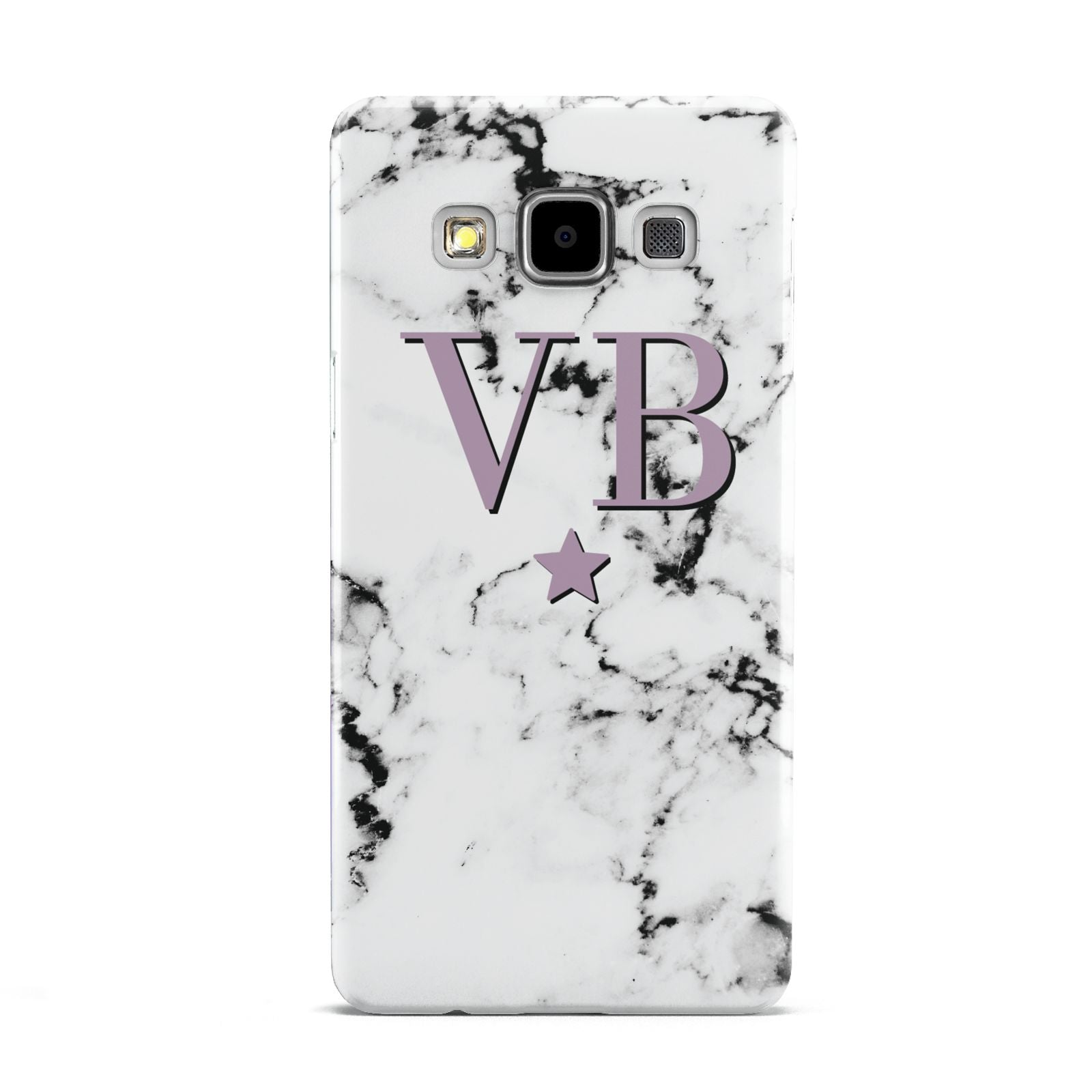 Personalised Star With Monogram Marble Samsung Galaxy A5 Case