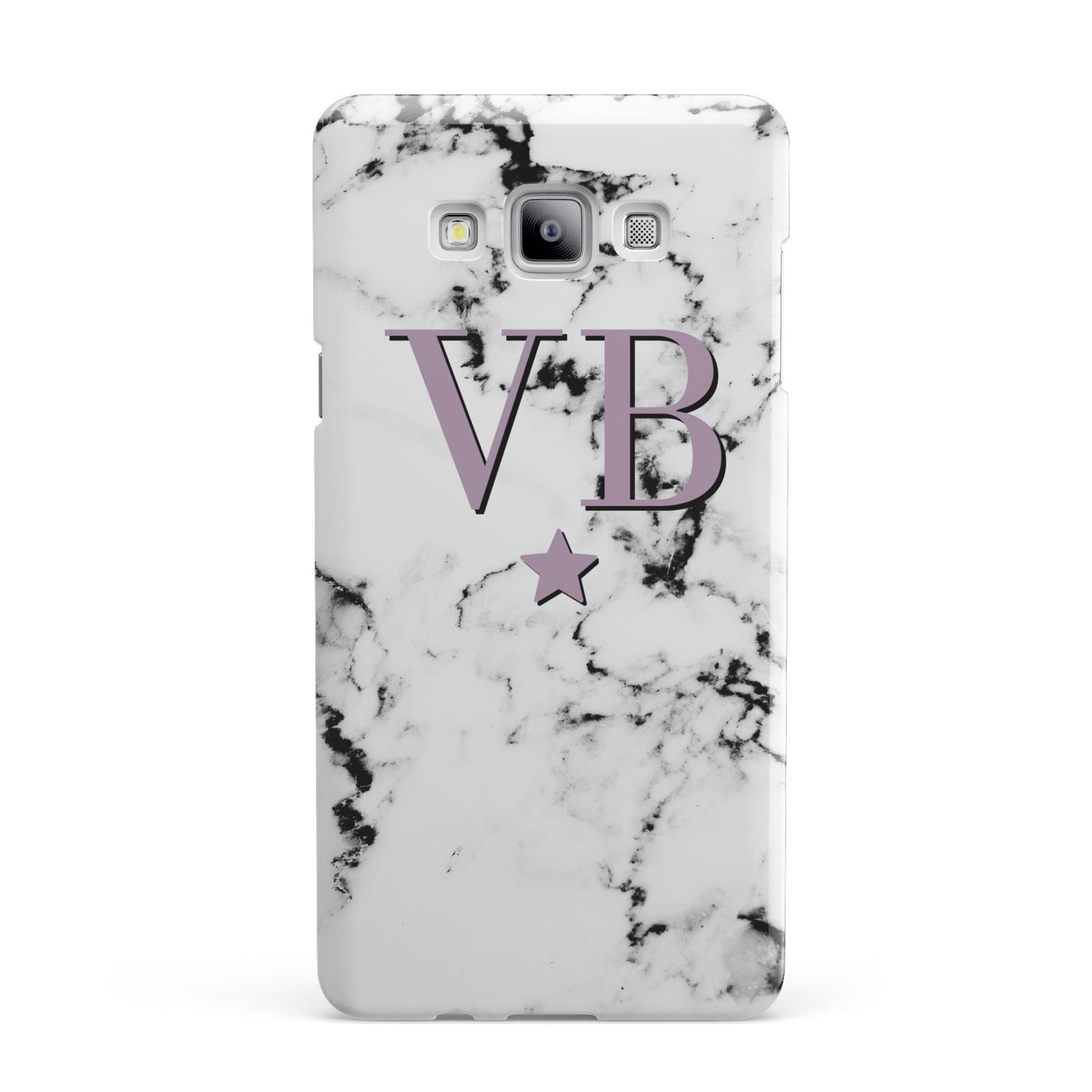 Personalised Star With Monogram Marble Samsung Galaxy A7 2015 Case