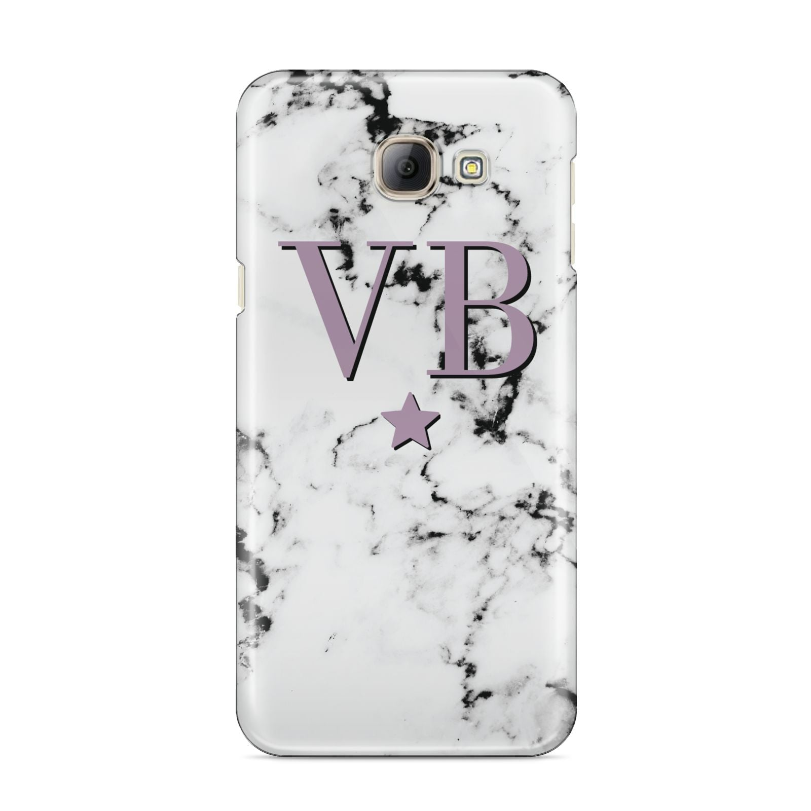 Personalised Star With Monogram Marble Samsung Galaxy A8 2016 Case