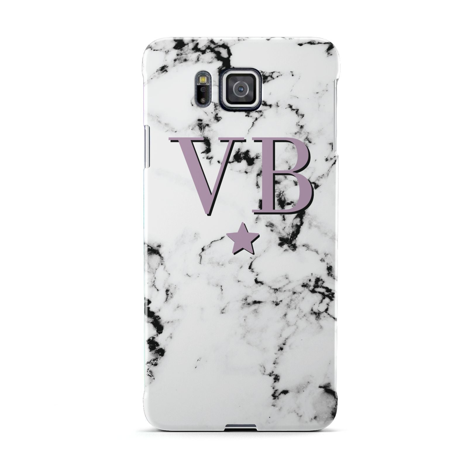 Personalised Star With Monogram Marble Samsung Galaxy Alpha Case