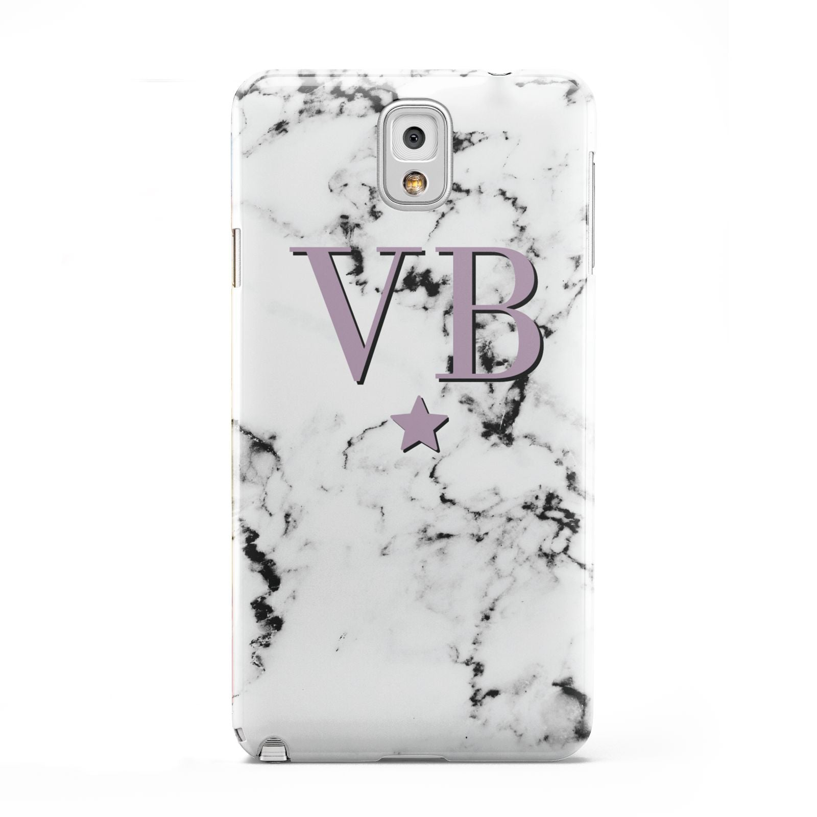 Personalised Star With Monogram Marble Samsung Galaxy Note 3 Case