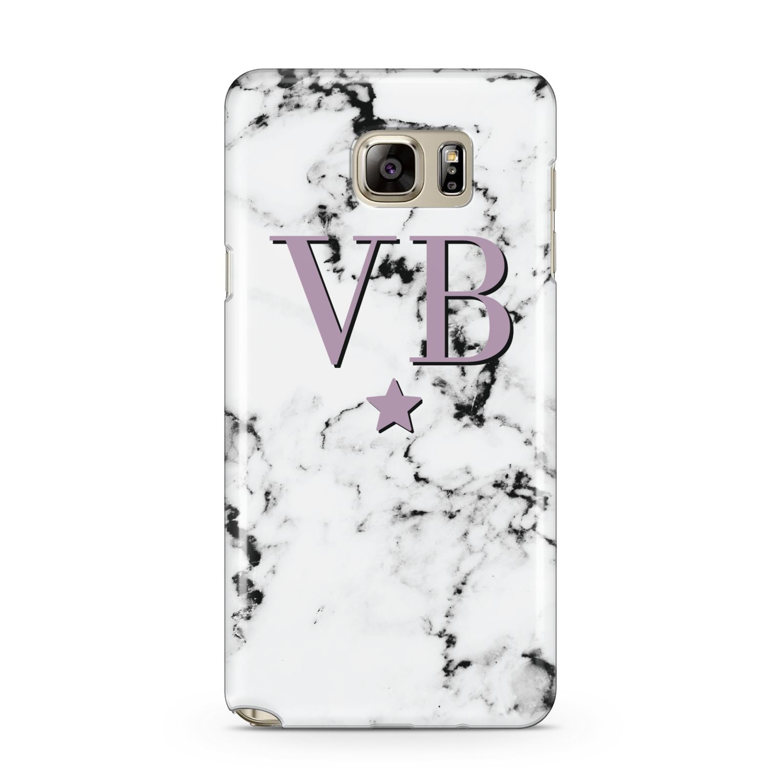 Personalised Star With Monogram Marble Samsung Galaxy Note 5 Case
