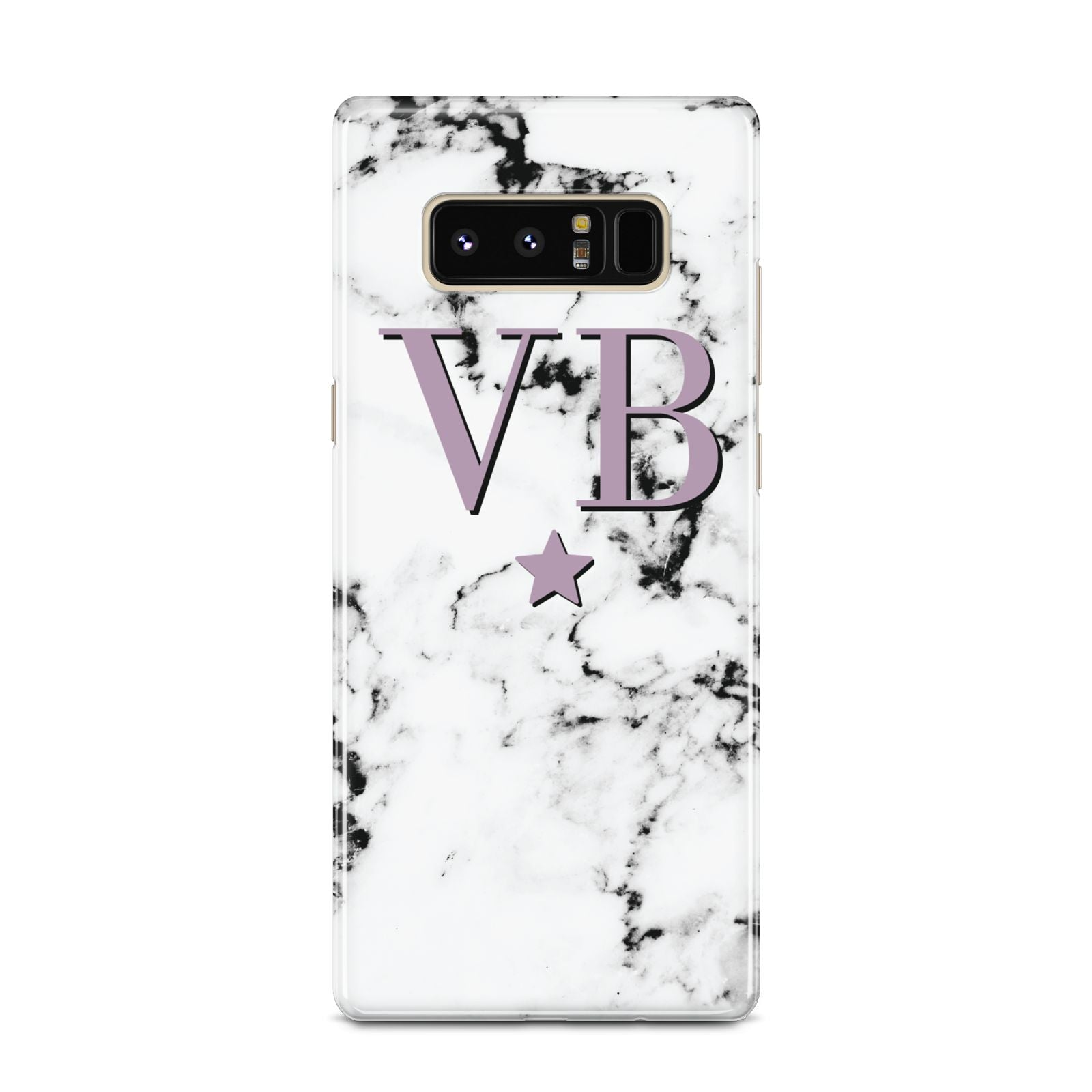 Personalised Star With Monogram Marble Samsung Galaxy Note 8 Case