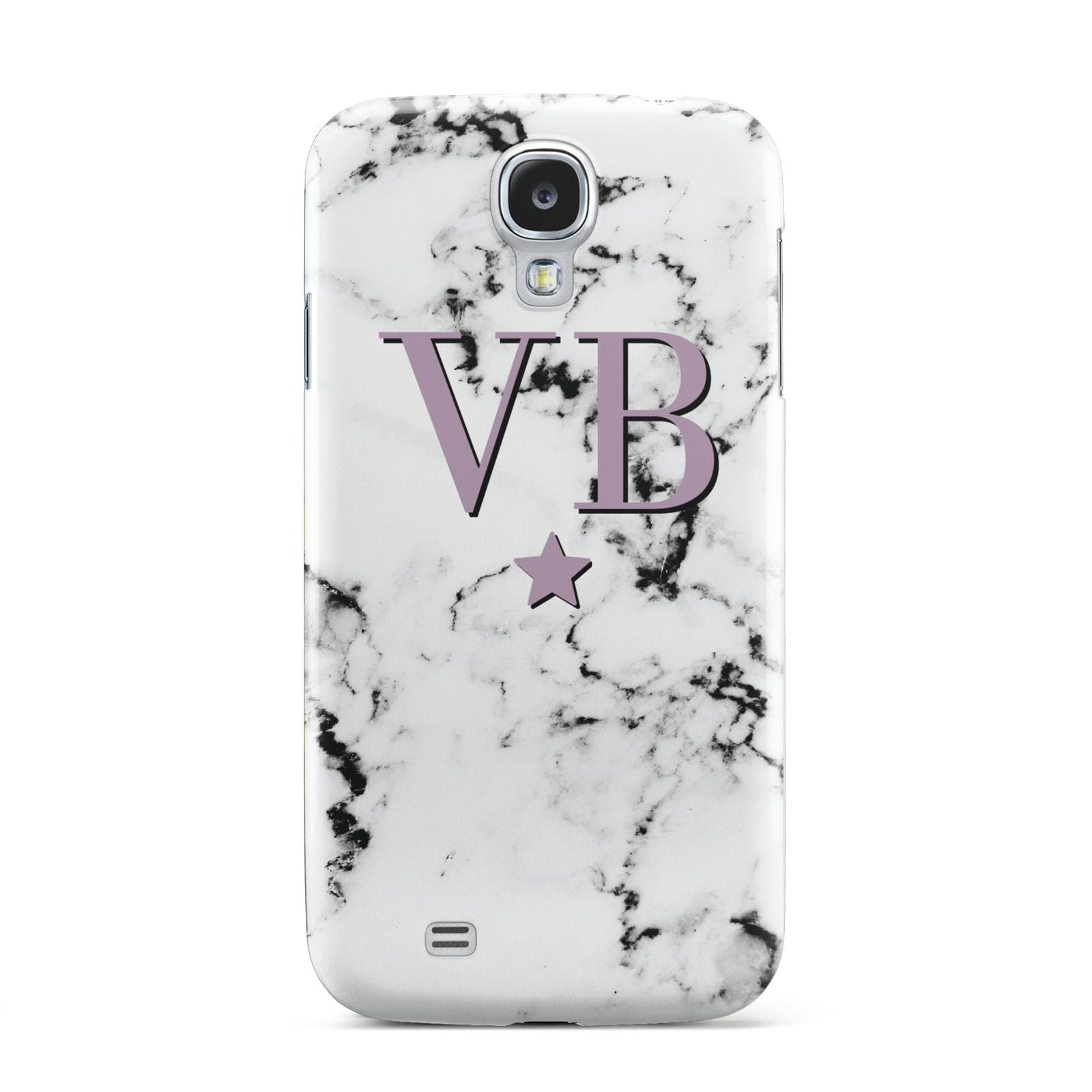 Personalised Star With Monogram Marble Samsung Galaxy S4 Case