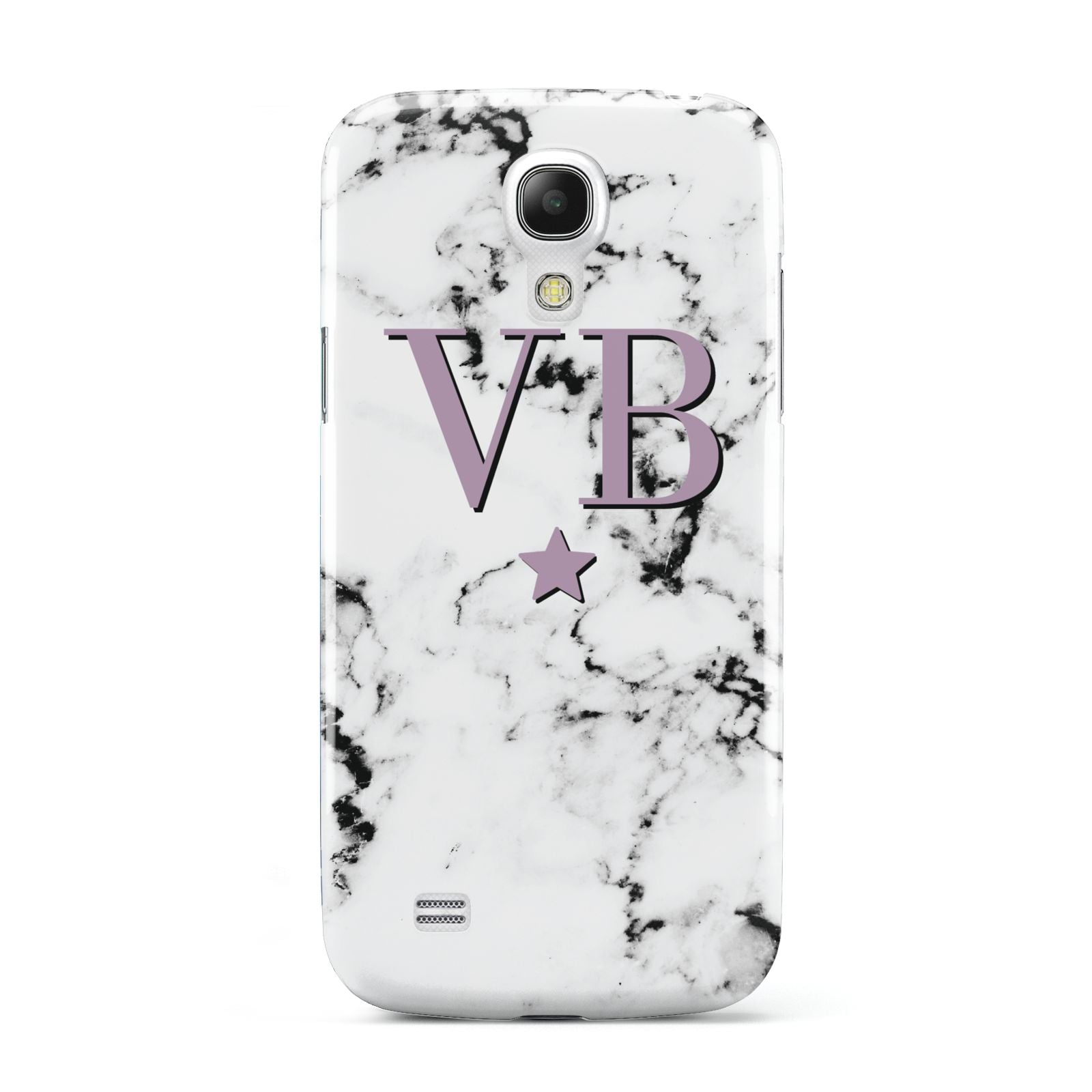 Personalised Star With Monogram Marble Samsung Galaxy S4 Mini Case