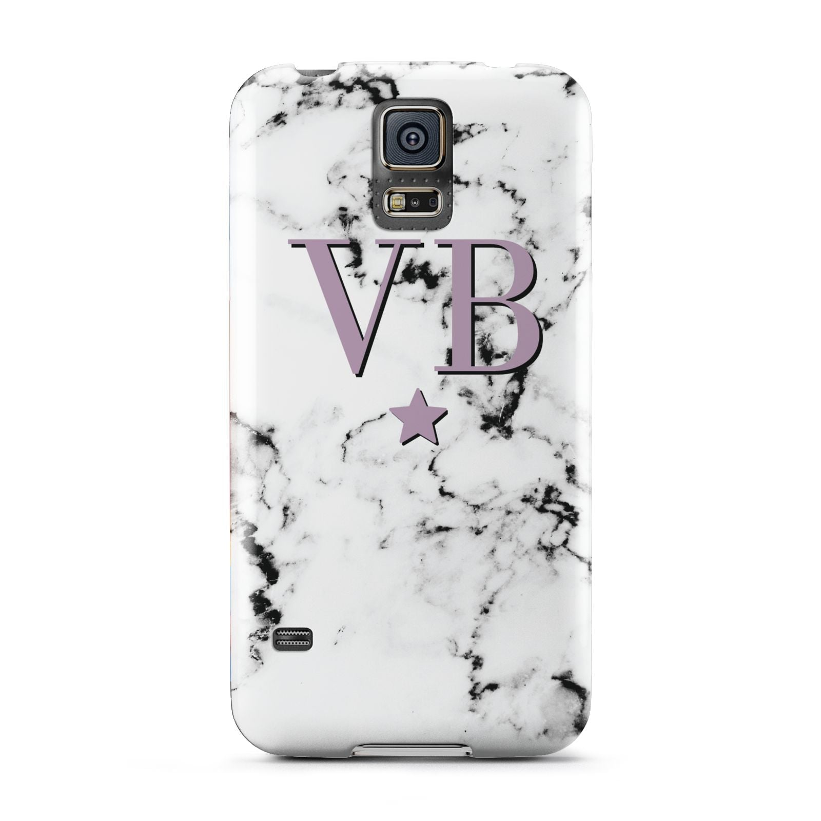 Personalised Star With Monogram Marble Samsung Galaxy S5 Case