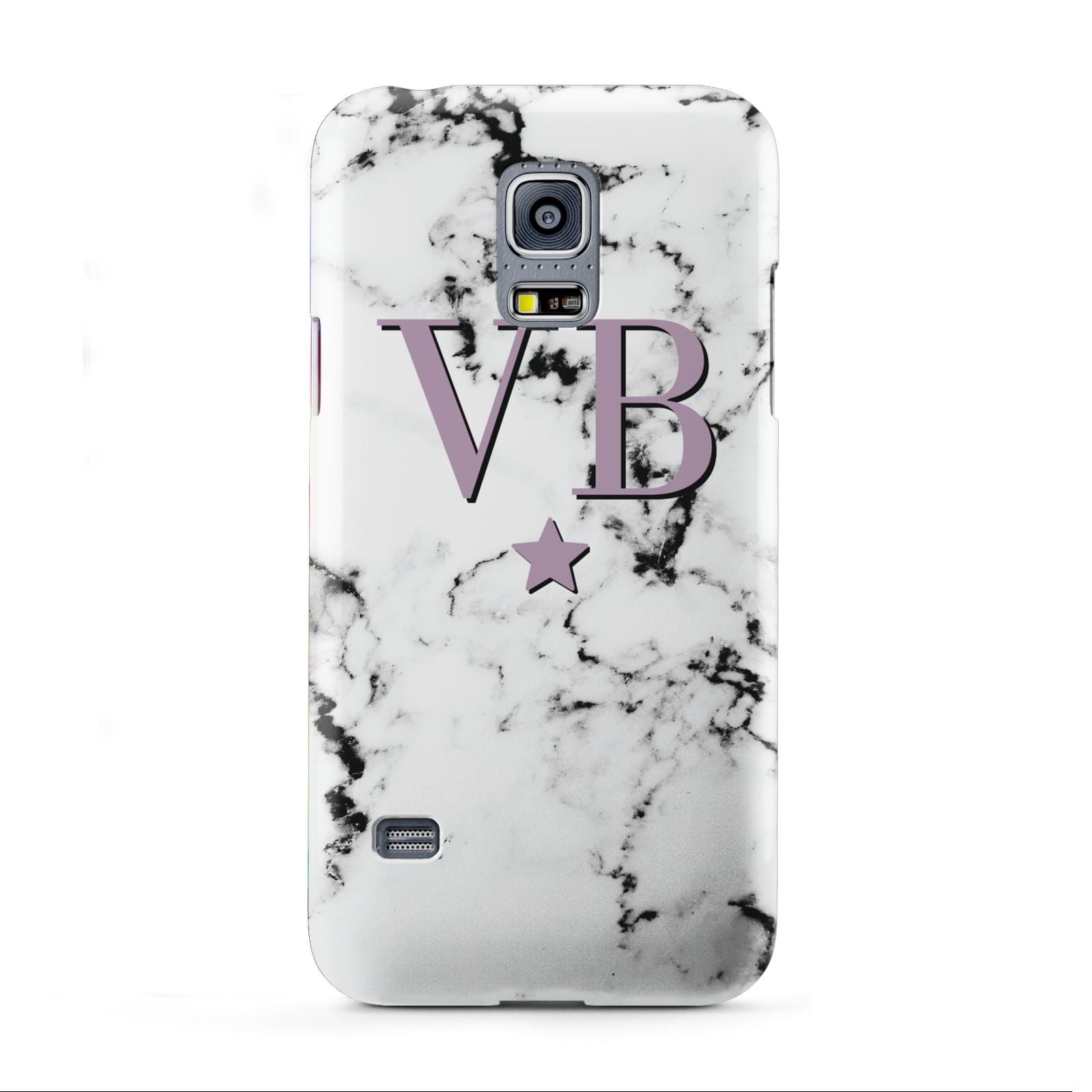Personalised Star With Monogram Marble Samsung Galaxy S5 Mini Case