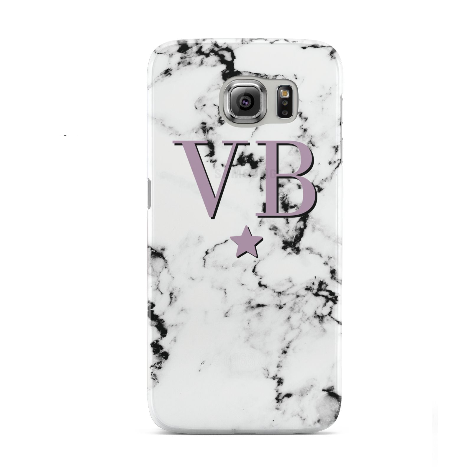 Personalised Star With Monogram Marble Samsung Galaxy S6 Case