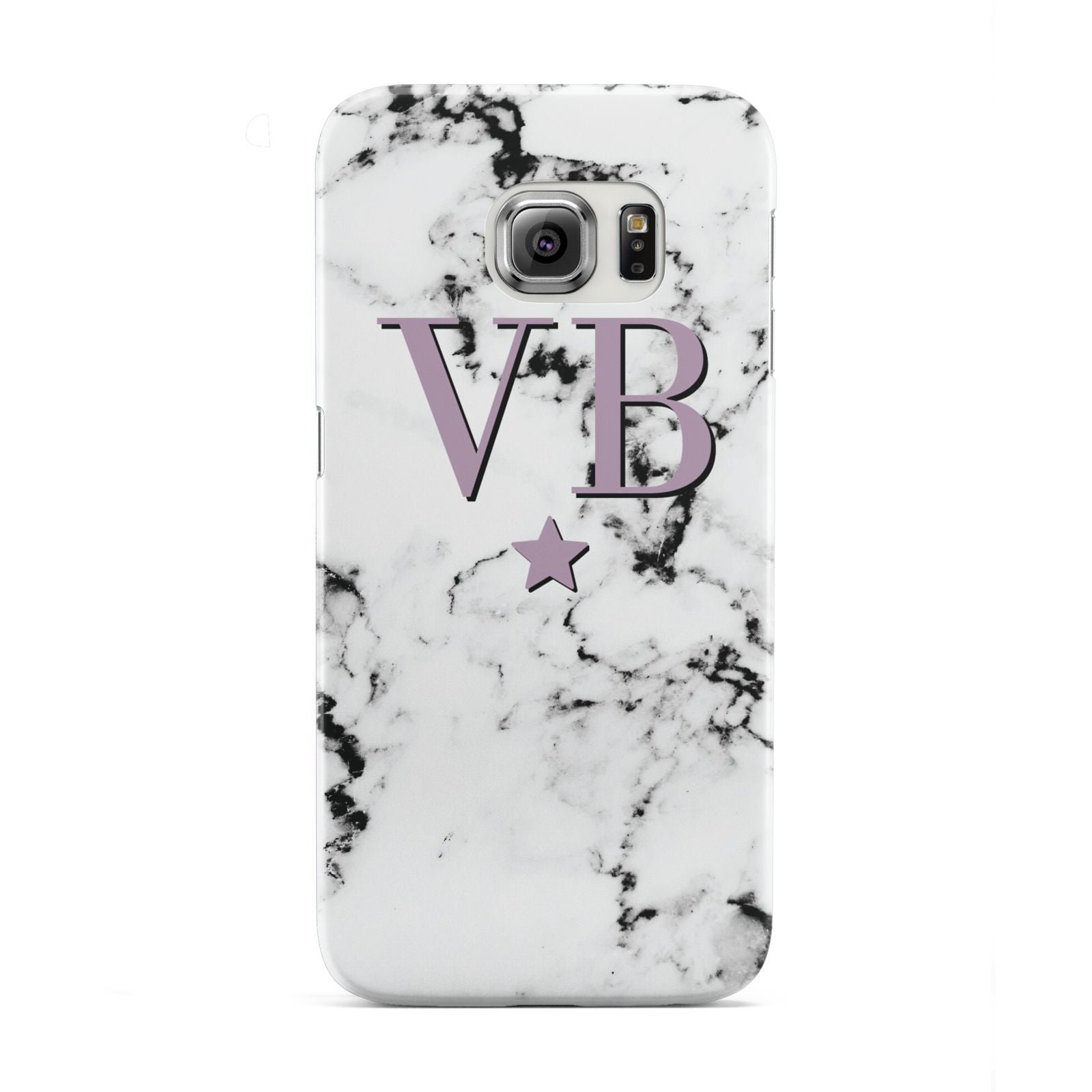 Personalised Star With Monogram Marble Samsung Galaxy S6 Edge Case