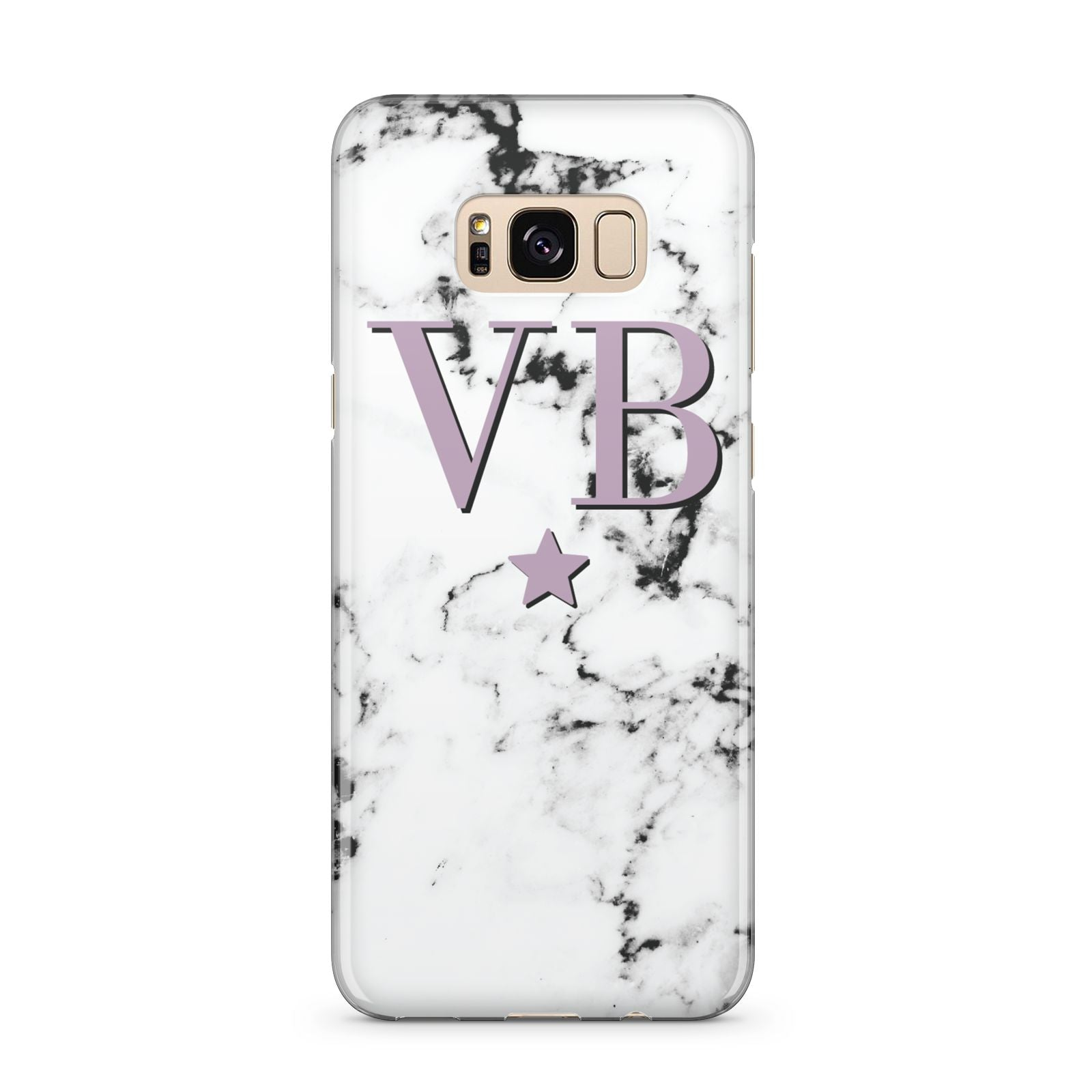 Personalised Star With Monogram Marble Samsung Galaxy S8 Plus Case