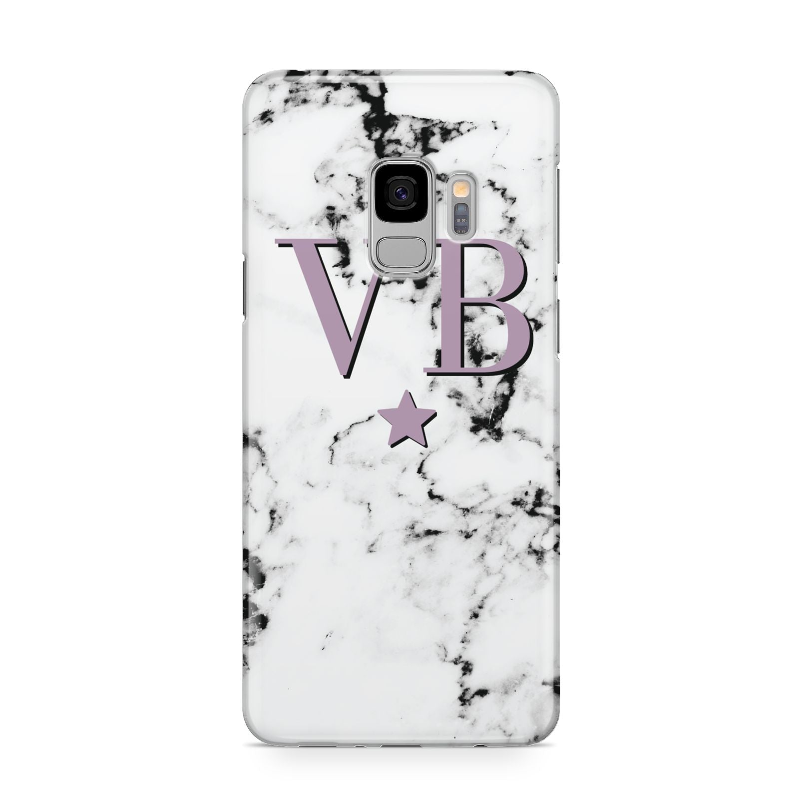Personalised Star With Monogram Marble Samsung Galaxy S9 Case