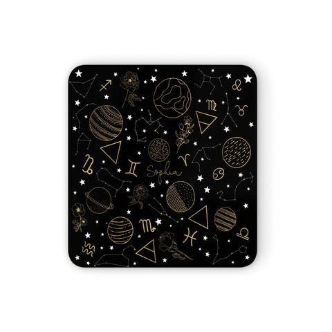 Personalised Stargazer Coasters set of 4