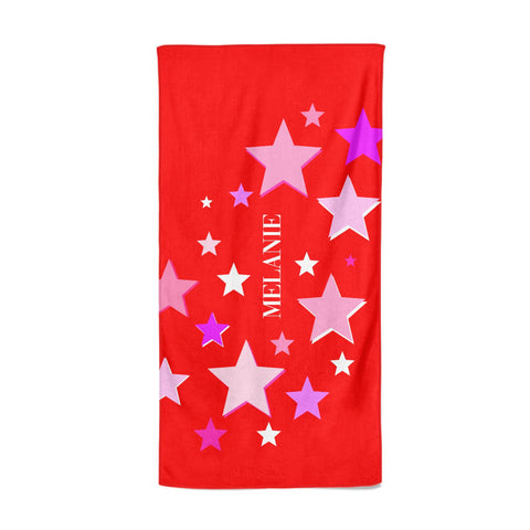 Personalised Stars Beach Towel