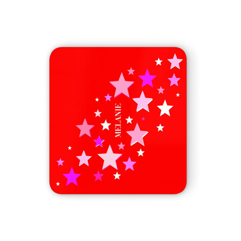 Personalised Stars Coasters set of 4